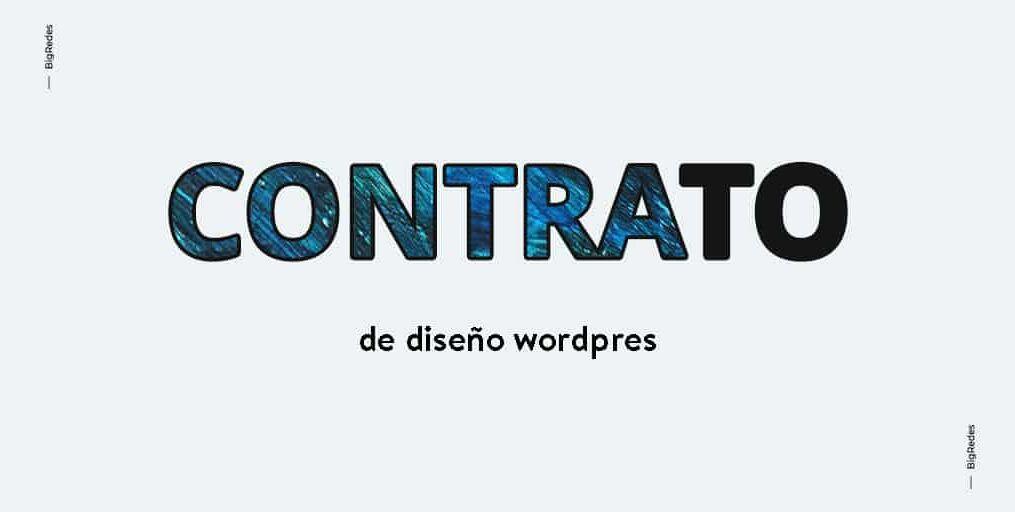 Contrato de Diseño web WordPress